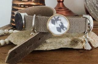 Enkele armband grijs. Met deze mooie Baby Dilemma armband moet je wel aan de slag!
