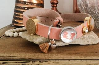 Enkele armband zalmroze. Met deze mooie Baby Dilemma armband moet je wel aan de slag!